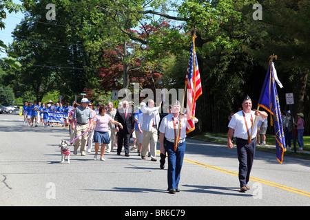 Memorial Day Parade, Dobbs Ferry, NY, USA - Stock Image