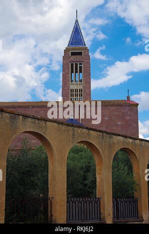 fascist era rationalist San Marco church, Fertlia, Sardinia, Italy - Stock Image