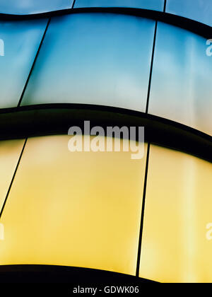 Colorful Glass and abstract roof in New York City, USA - Stock Image