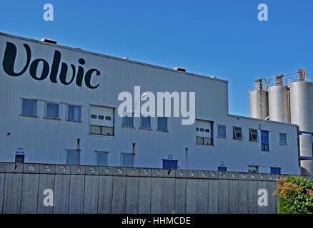 Volvic factory Volvic Puy-de-Dome Auvergne Massif-Central France - Stock Image