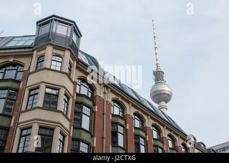 Germany, Berlin. Instituto Cervantes and Berlin TV Tower. Credit as: Wendy Kaveney / Jaynes Gallery / DanitaDelimont.com - Stock Image