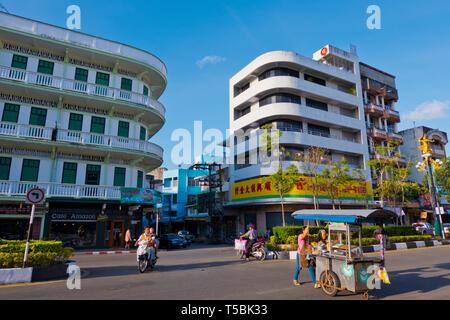 Thana Pranam VI, main road, Trang, Thailand - Stock Image