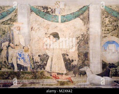 Painted fresco, Rimini, Emilia-Romagna, Italy - Stock Image