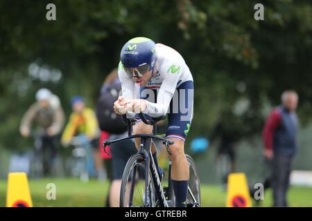 Bristol, UK.  10th September 2016. Tour of Britain stage 7a, time trial.  Alex Dowsett of Team Movistar  Credit: - Stock Image