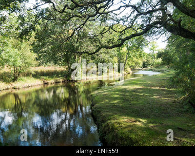 The river Sorn at Islay Woollen Mill Scotland - Stock Image