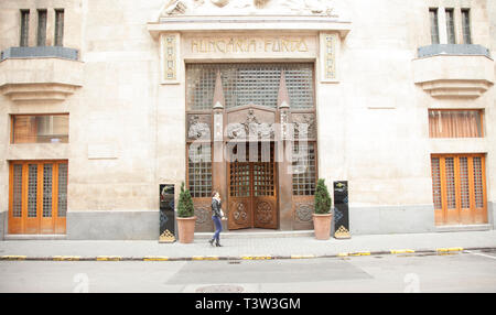 BUDAPEST, HUNGARY - SEPTEMBER 20, 2017: Hungaria Furdo is one of many thermal baths in Budapest, HUngary. - Stock Image