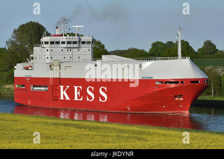 Car Carrier Isar Highway - Stock Image