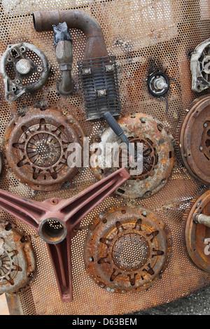 metallic rusty texture - Stock Image