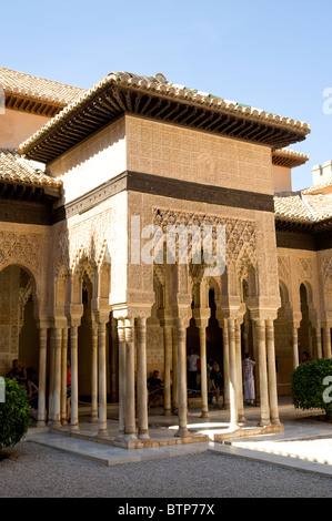 Alhambra Palace, Detail, Granada, Andalucia, Spain - Stock Image