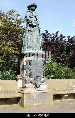 Statue Maria von Jever, Jever, Niedersachsen, Deutschland, Europa.   Statue Maria of Jever, Jever, Lower Saxony, - Stock Image