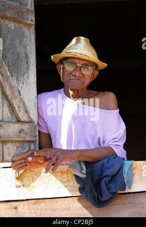 Elderly Malagasy Woman, Andasibe, Toamasina Province, Madagascar, Africa. - Stock Image