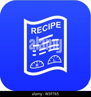 Medical recipe icon, simple style - Stock Image