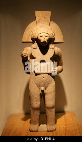 Quetzalcoatl as Venus, Pre-Columbian Art from Chicayan, Ozuluama, Veracruz, in the National Museum of Anthropology, - Stock Image