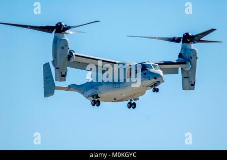 V-22 Osprey from VMM-163 in flight - Stock Image