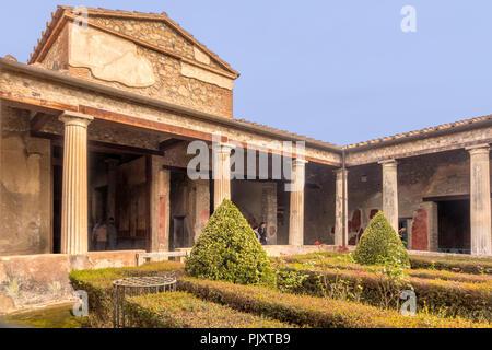 House of Menandro Pompeii Campania Italy - Stock Image