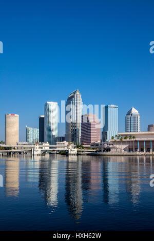 Tampa skyline business district, Florida, USA - Stock Image
