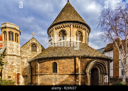 Church of the Holy Sepulchre Cambridge UK - Stock Image
