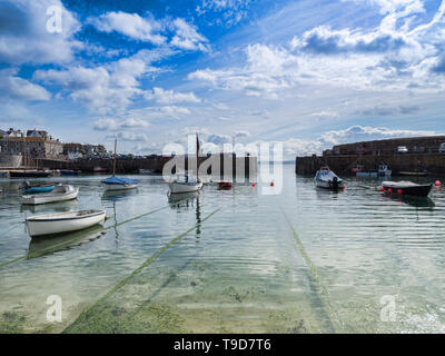 Mousehole Harbour, Mousehole, Cornwall - Stock Image
