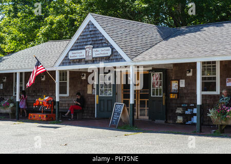 7a Foods in West Tisbury, Massachusetts on Martha's Vineyard. - Stock Image