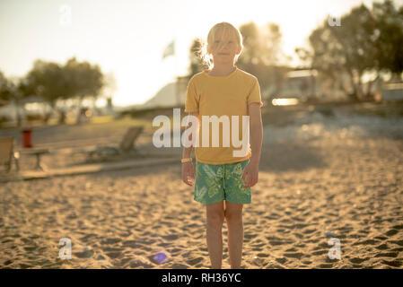 Girl on beach - Stock Image