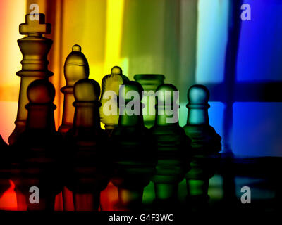Colorful Chess - Stock Image