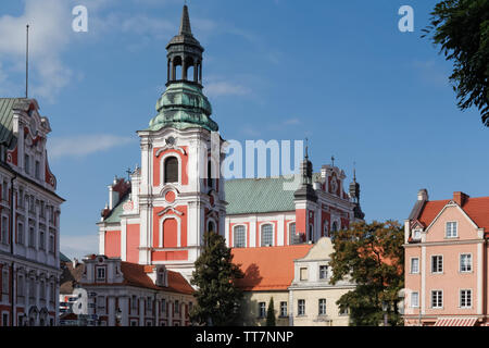 Historic Collegiate Church of St.Stanislaw in the town of Poznan in Poland - Stock Image