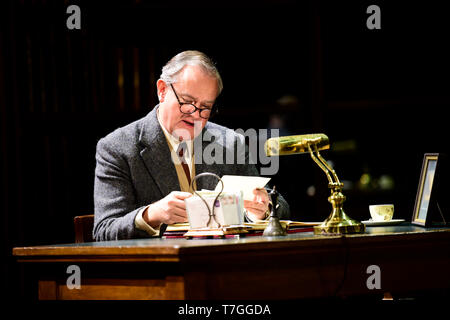 Hugh Bonneville playing writer C.S. Lewis in Shadowlands, a play written by William Nicholson at Chichester Festival Theatre, West Sussex, UK. - Stock Image