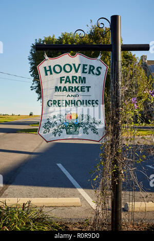 Hoover's Farm Market, Amish Country, Lancaster County, Pennsylvania, USA - Stock Image