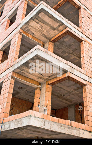 A building during construction - Stock Image
