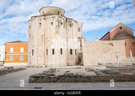geography / travel, Croatia, Dalmatia, Zadar, historic centre of town, Roman ruins, Additional-Rights-Clearance - Stock Image