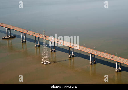 Elevated Highway over Water - Stock Image