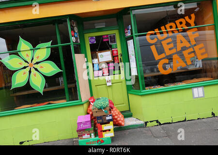 Curry Leaf Cafe, Indian restaurant in Brighton, United Kingdom - Stock Image