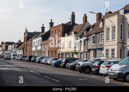 Medieval Buildings,Court Street,Faversham,Kent,England - Stock Image