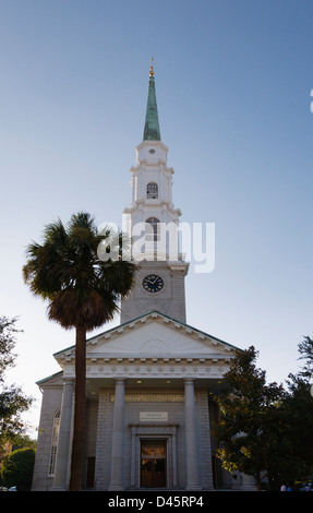 Independent Presbyterian Church, Savannah, Georgia, USA - Stock Image