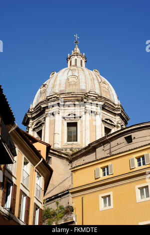 italy, rome, basilica of sant'andrea della valle, the third largest dome in rome - Stock Image