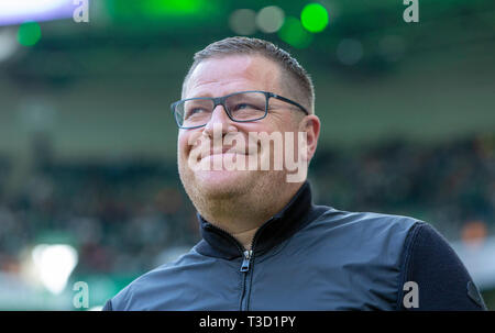 sports, football, Bundesliga, 2018/2019, Borussia Moenchengladbach vs SV Werder Bremen 1-1, Stadium Borussia Park, sports director Max Eberl (MG), DFL REGULATIONS PROHIBIT ANY USE OF PHOTOGRAPHS AS IMAGE SEQUENCES AND/OR QUASI-VIDEO - Stock Image