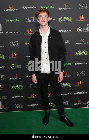 Sydney, Australia. 12th July 2019. Jack and the Beanstalk Giant 3D musical spectacular red carpet at the State Theatre. Pictured: Benson Jack Anthony. Credit: Richard Milnes/Alamy Live News - Stock Image