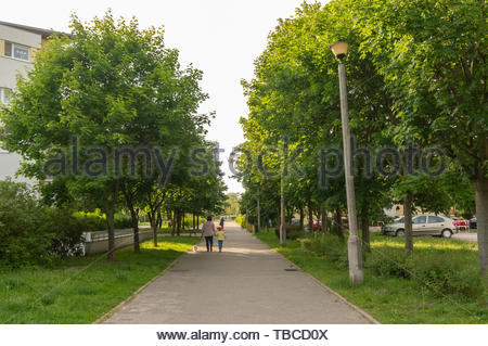 Poznan, Poland - May 24, 2019: Woman and child - Stock Image