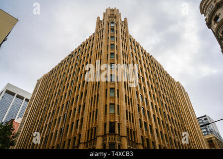 The heritage-listed Grace Building (1930) houses the Grace Hotel in Sydney's Central Business District, Sydney, New South Wales, Australia. - Stock Image