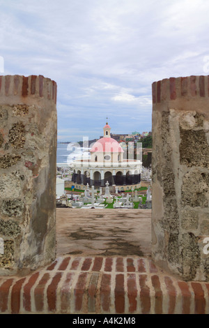 San Jaun Puerto Rico. View from the fort looking down on cemetary. - Stock Image