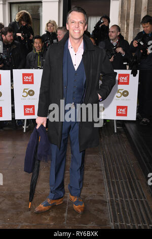 LONDON, UK. March 12, 2019: Graeme Swann arriving for the TRIC Awards 2019 at the Grosvenor House Hotel, London. Picture: Steve Vas/Featureflash Credit: Paul Smith/Alamy Live News - Stock Image