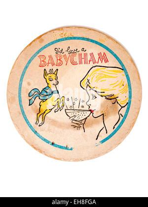 Vintage Beermat Advertising Babycham Drink - Stock Image