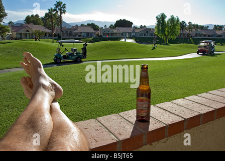 Palm Springs CA Oasis Golf course beautiful lovely picturesque Western US United States  Palm Desert California - Stock Image