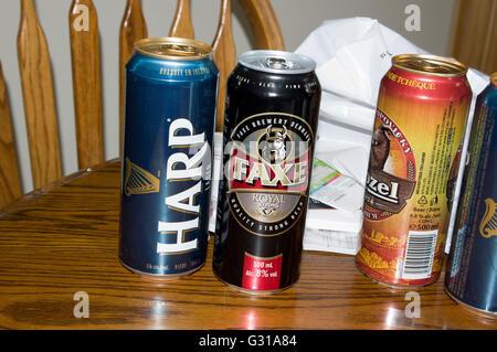 beer assortment, beer, Europe - Stock Image