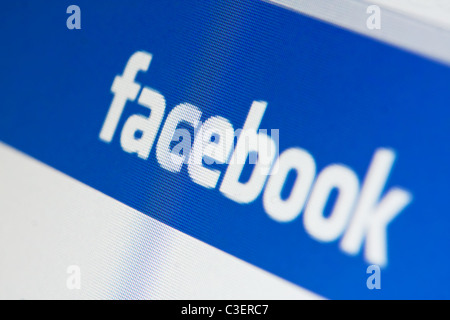 Muenster, Germany - May 7, 2011: facebook.com website on computer screen. Facebook is the biggest social networking - Stock Image