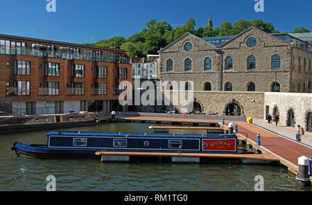 Wewar and Hodmaded barges at moorings, Bristol Docks, South West England, UK - Stock Image