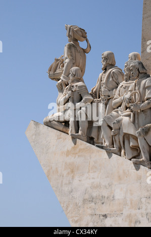 Monument to the Discoveries on the bank of River Tagus, Belem, Lisbon, Portugal - Stock Image