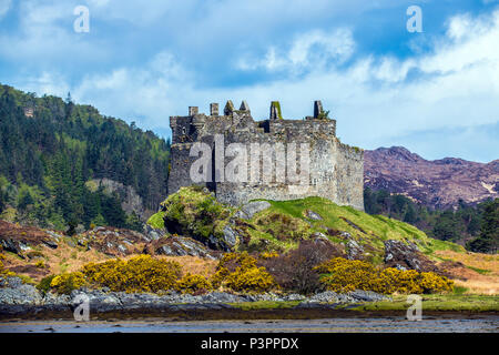 Castle Tioram near Acharacle in the Highlands of Scotland - Stock Image
