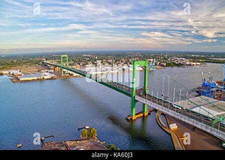 Aerial View of Walt Whitman Bridge Philadelphia - Stock Image
