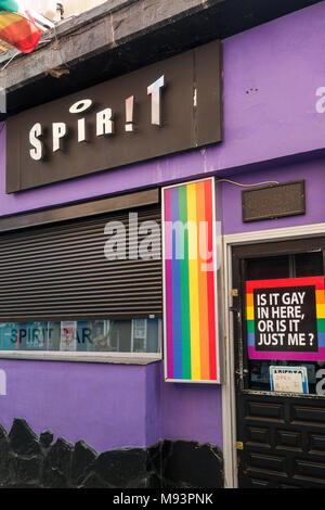 The Spirit gay bar in Benidorm Old Town, Costa Blanca Spain - Stock Image